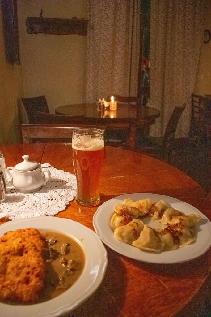 An authentic Polish dinner in Krakow, Poland