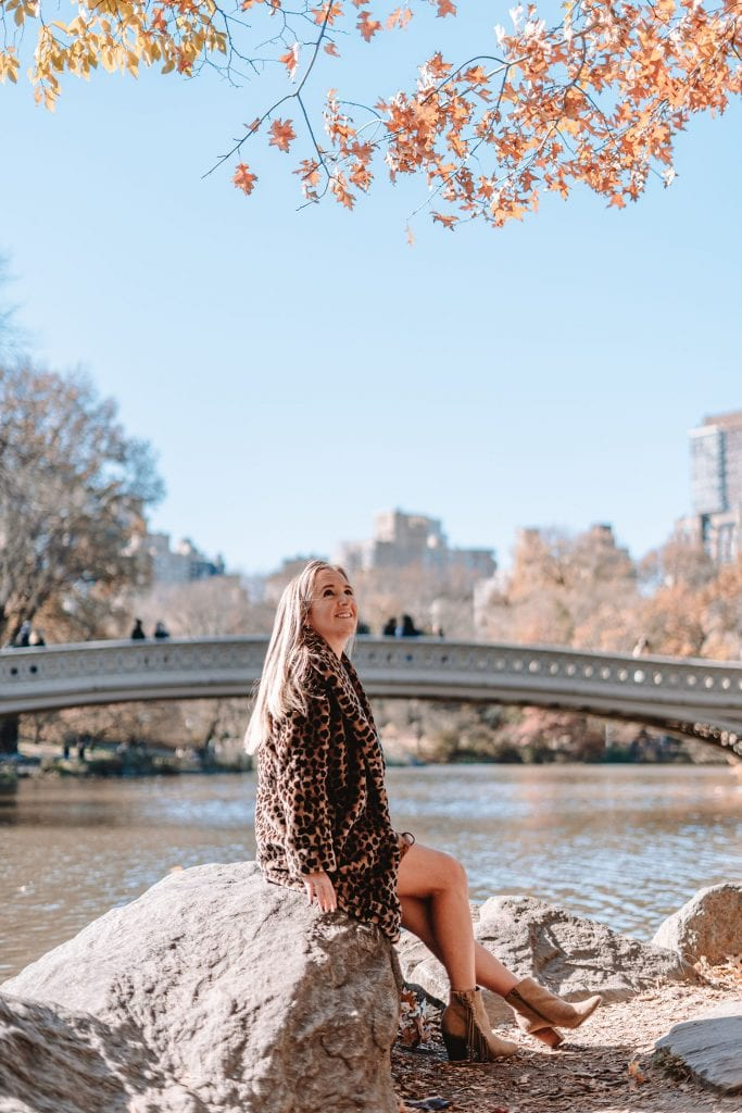 A woman enjoying an afternoon in Central Park