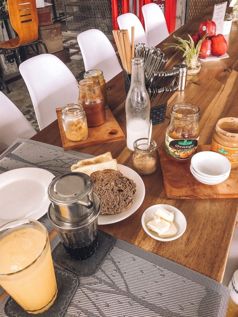 A delicious breakfast from a boutique hotel in Da Nang