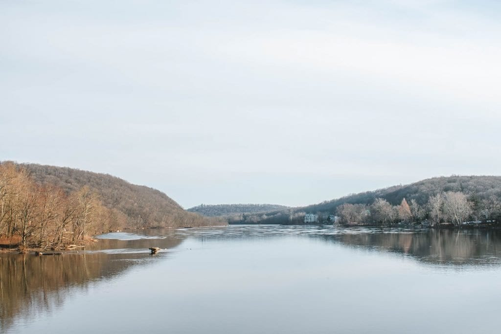 The Delaware River between New Jersey and Pennsylvania