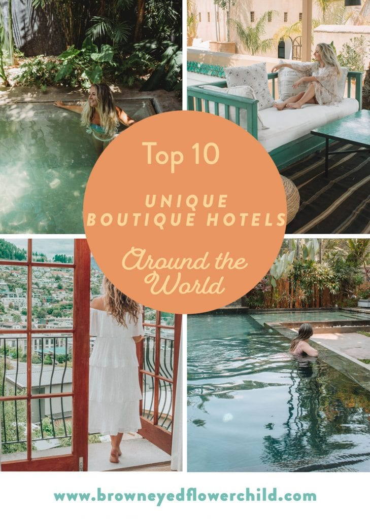 Unique boutique hotels around the world