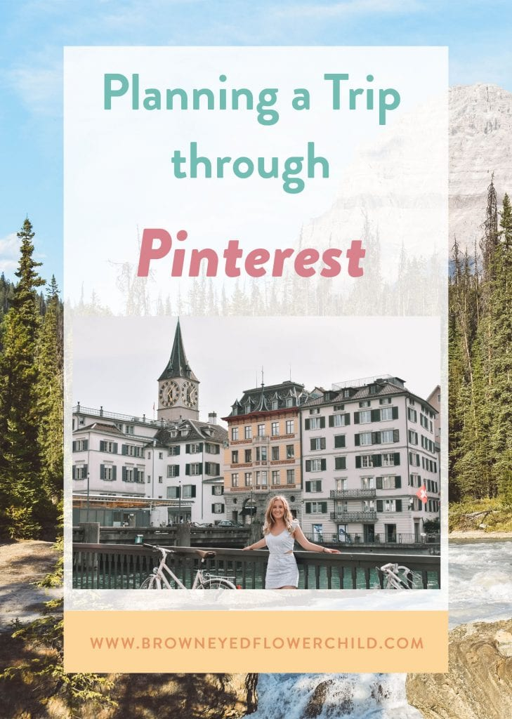 Planning a trip through Pinterest