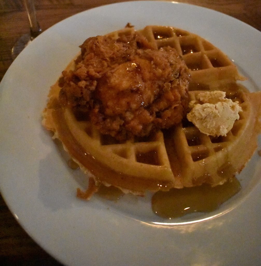 A popular American signature dish is chicken and waffles
