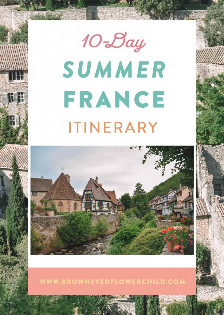 10 days in France itinerary for the summer