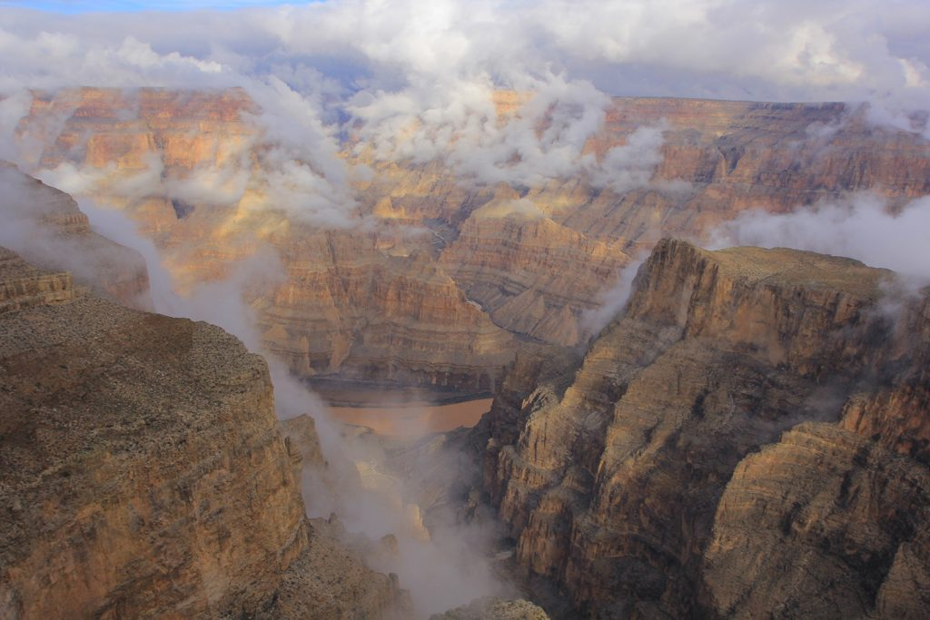 The Grand Canyon from an aerial tour - one of the best things to do