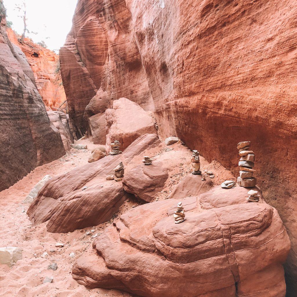 Balancing rocks at Zion National Park
