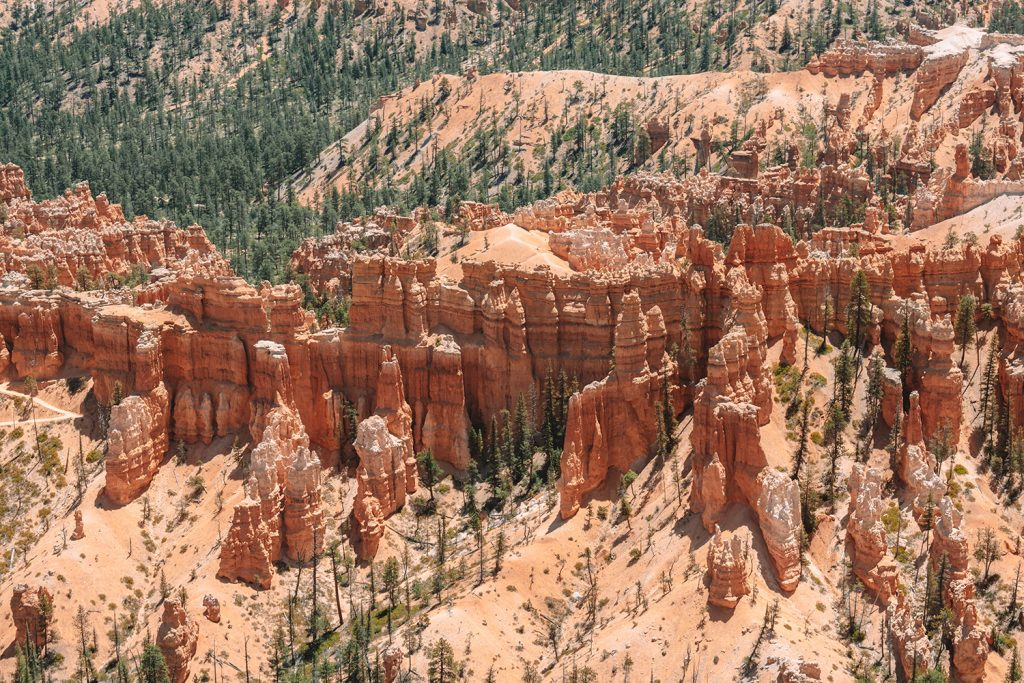 Stunning rock formations in Bryce Canyon National Park