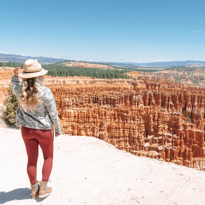 A woman at Bryce Canyon National Park in 2020