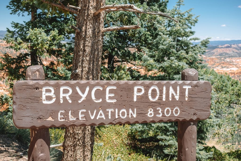 Bryce Point at 8300 feet above sea level