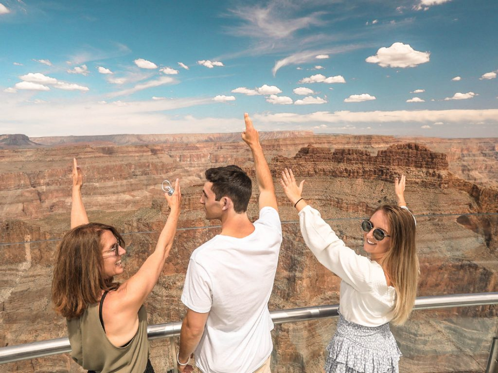 A family making memories at Grand Canyon West