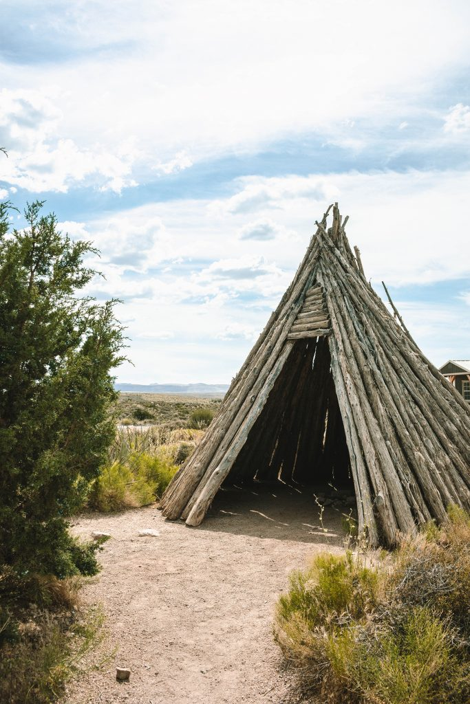 A Hualapai tribal teepee at Grand Canyon West