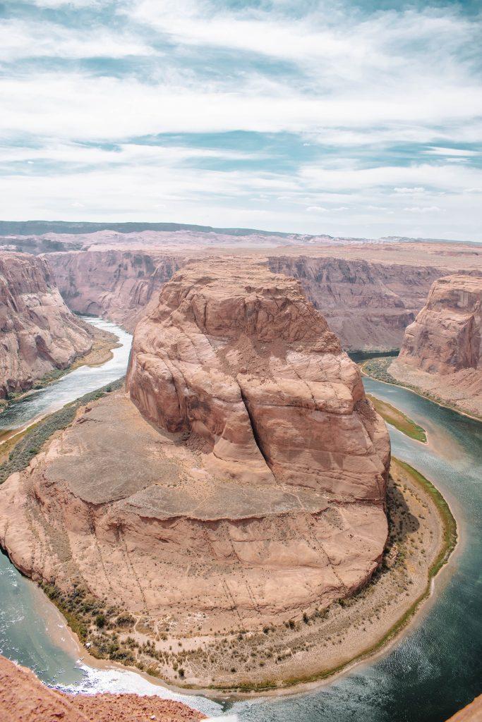 Views of Horseshoe Bend in Page, Arizona