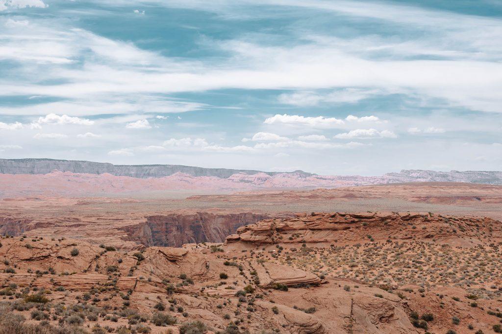 The desert in Page, Arizona