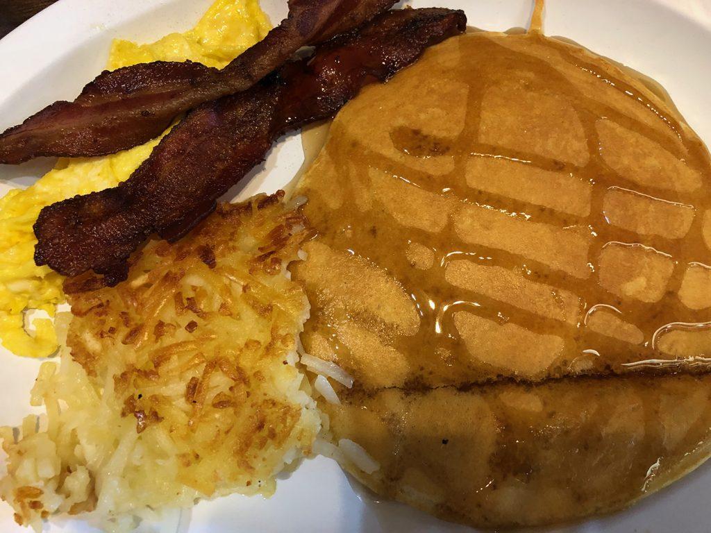 An American breakfast in Page, Arizona