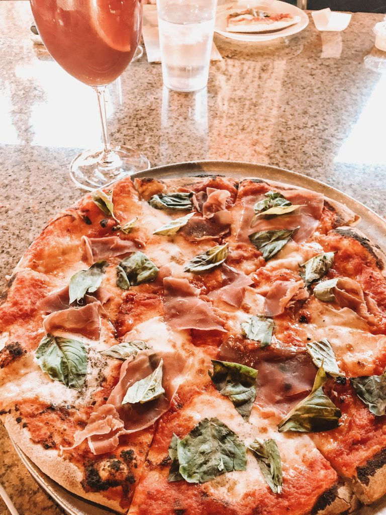 Pizza with prosciutto from Pisa Lisa in Sedona
