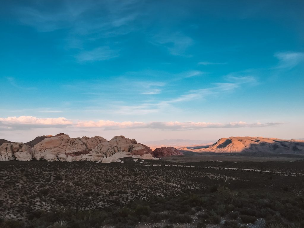 Red Rock Canyon at sunset