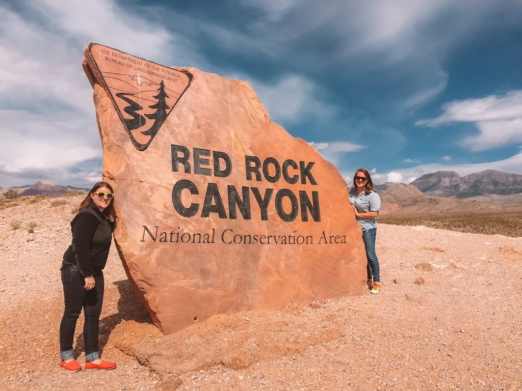 Two women at Red Rock Canyon National Conservation Area