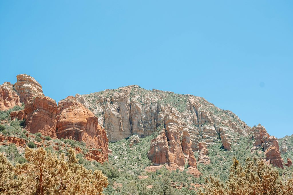 Stunning red rock formations on a hike