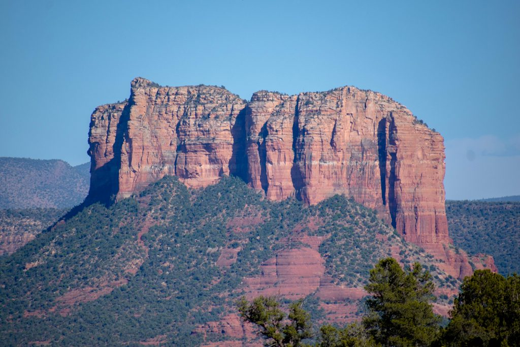 A cool red rock butte in Sedona