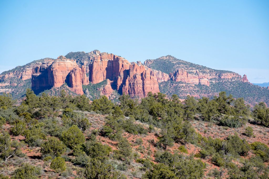 Gorgeous red rock buttes and canyons