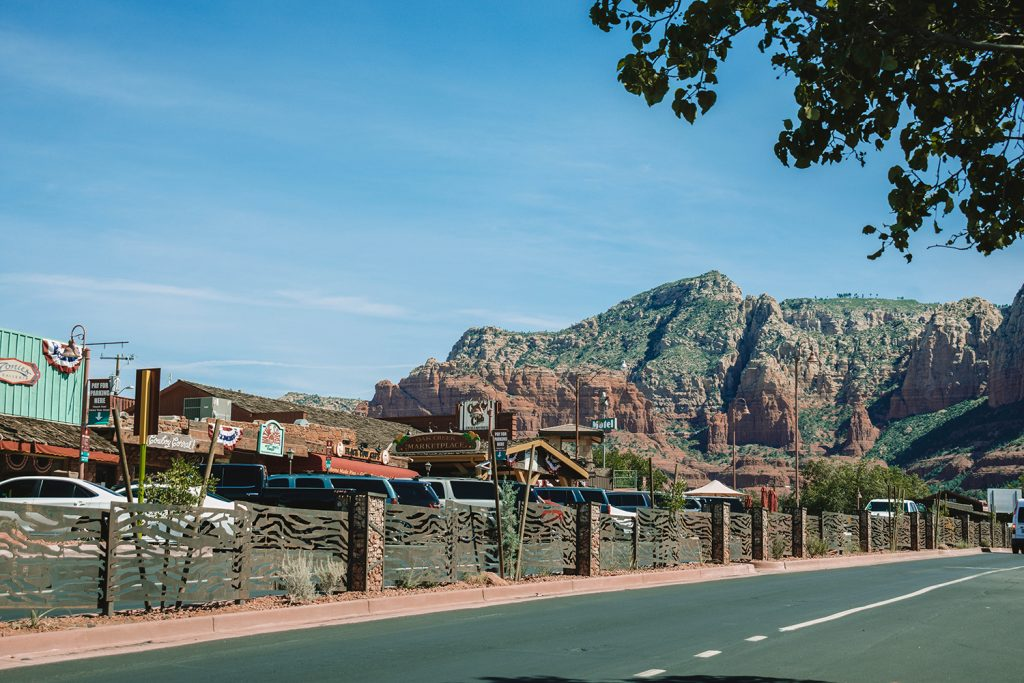 A sunny day in downtown Sedona