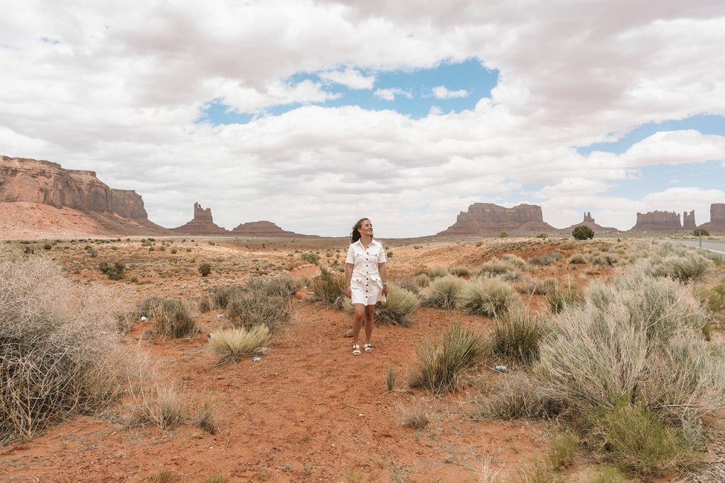 A woman enjoying Monument Valley in Arizona