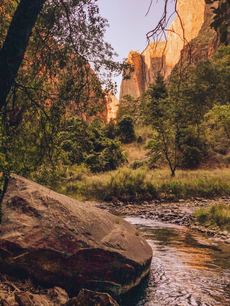 Sunrise at The Narrows in Zion National Park