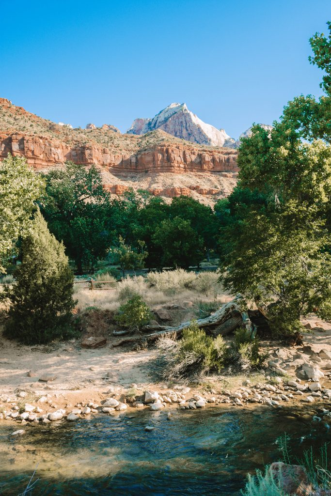 Views on the Watchman hiking trail in Zion National Park