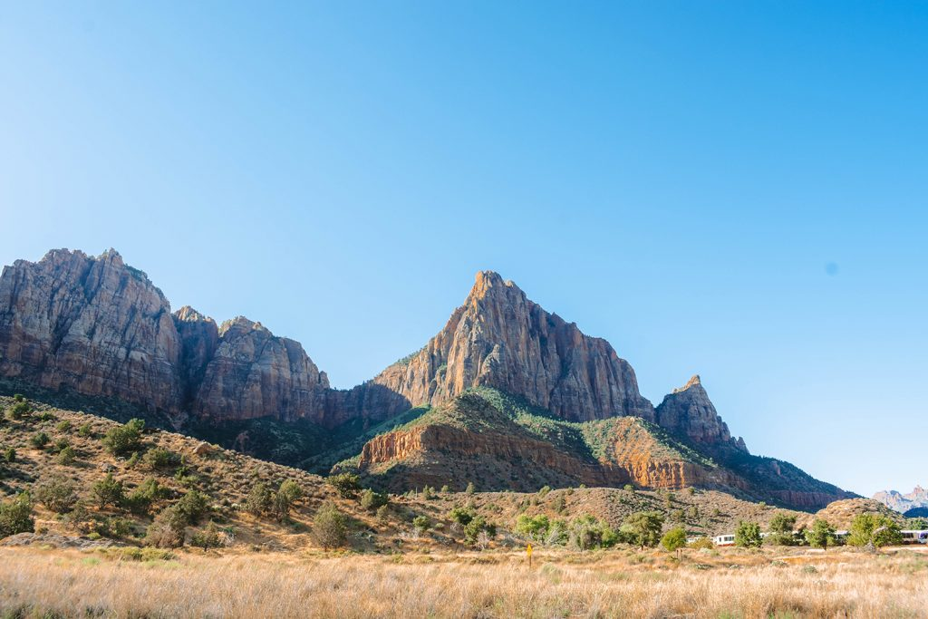A breathtaking view of Zion National Park