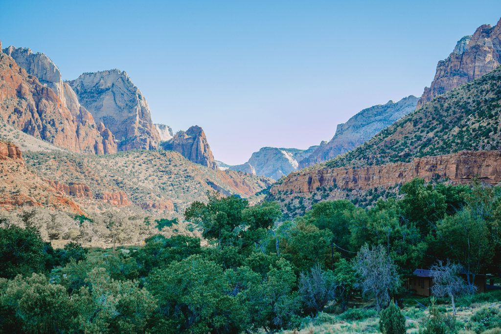 Amazing views of Zion National Park