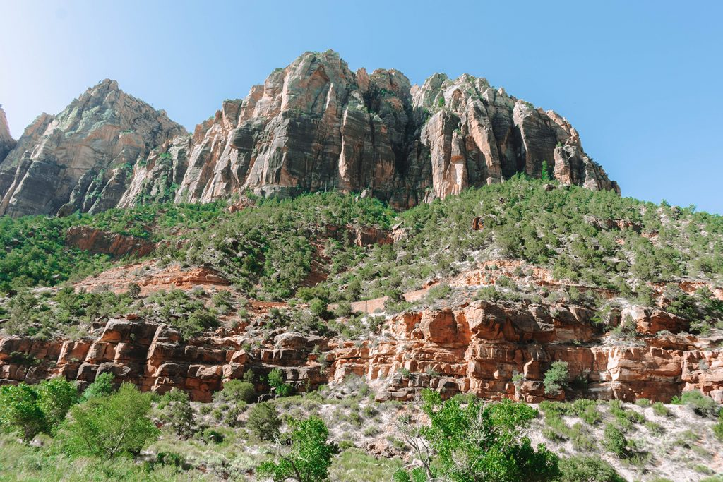 Cool mountain formations in Zion