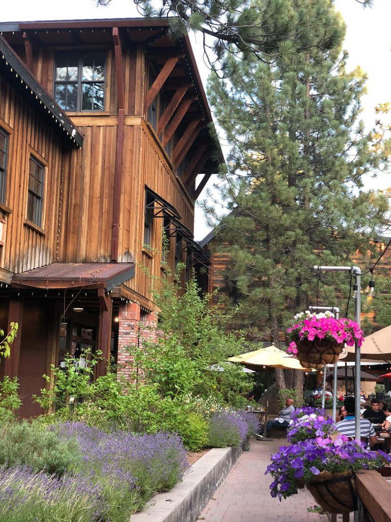 A wooden building in Truckee, California