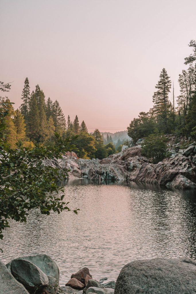 Sunrise at the Emerald Pools in Lake Tahoe National Forest