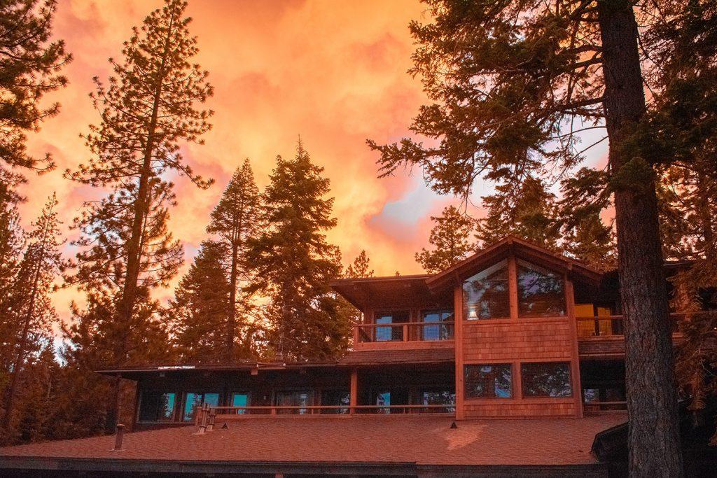 A summer sunset at Granlibakken in Lake Tahoe