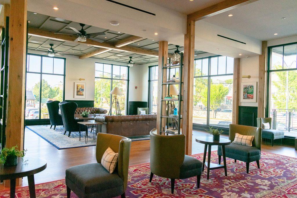 Hammetts Hotel lobby in Newport, RI