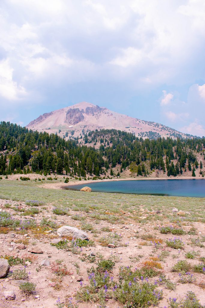 Beautiful views in Lassen Volcanic National Park in Northern California