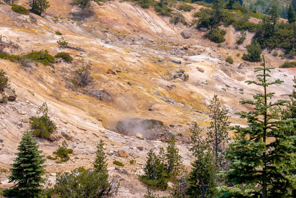 Sulphur Works in Lassen Volcanic National Park