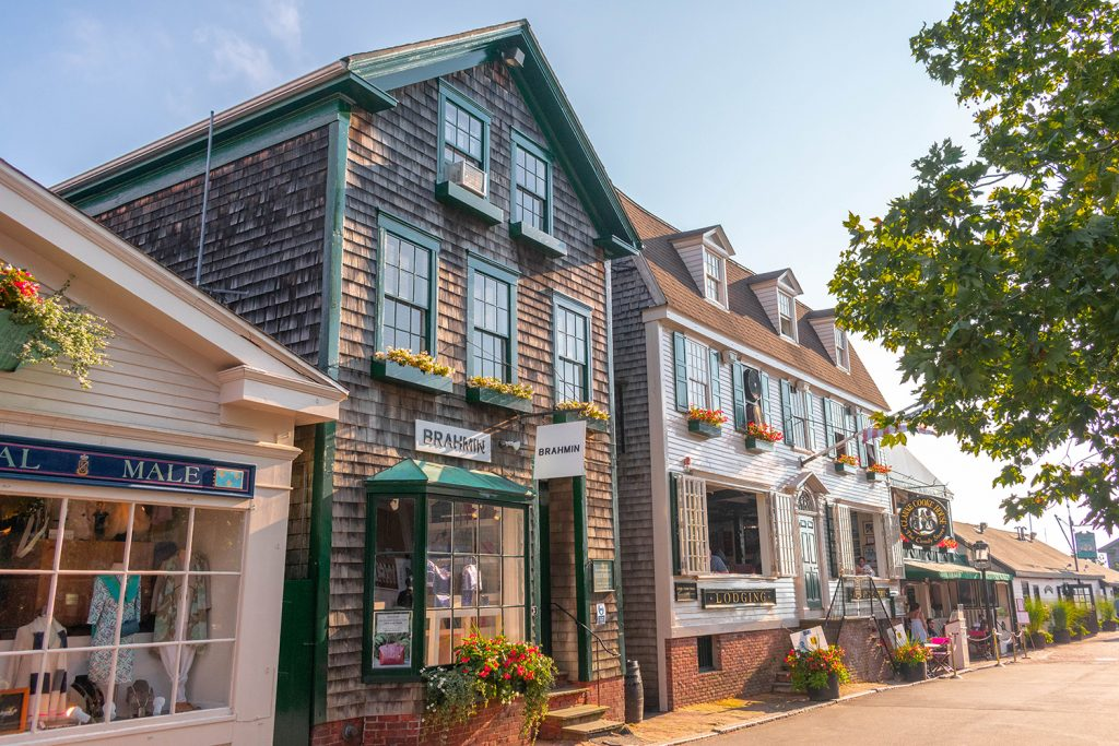 Downtown Newport, RI during summer