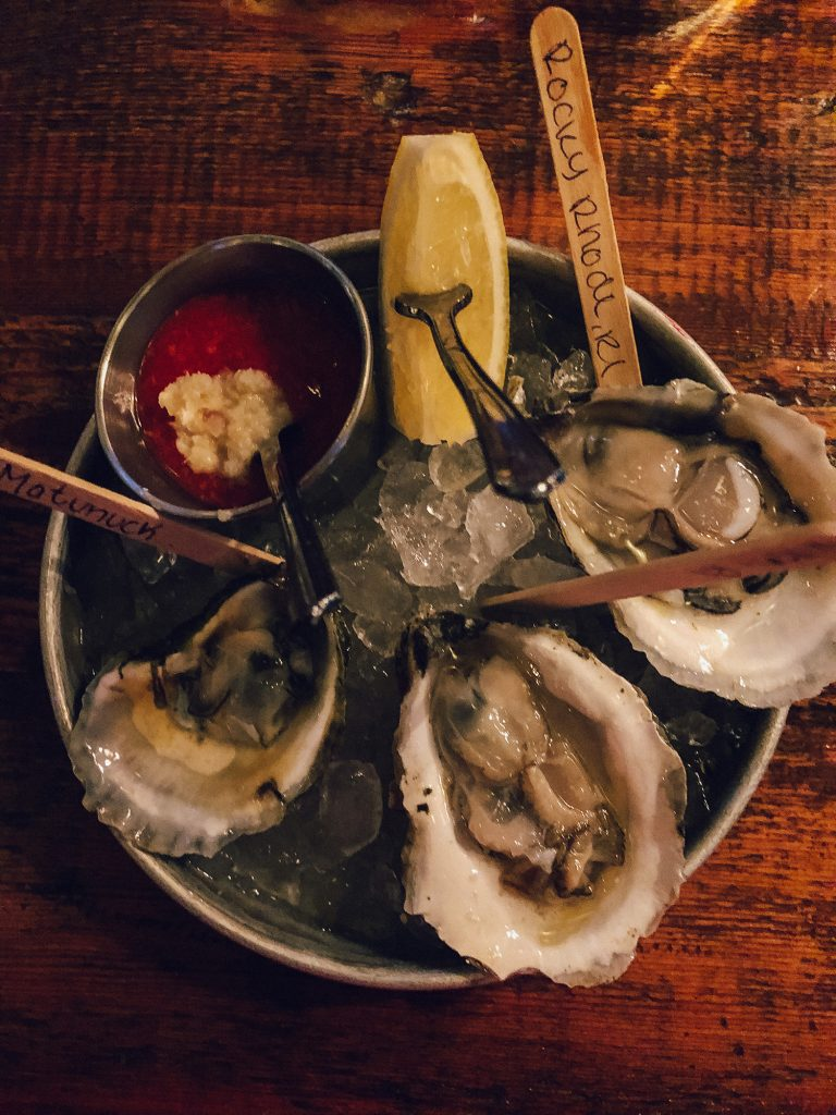Oysters from Midtown Oyster Bar in Newport, Rhode Island