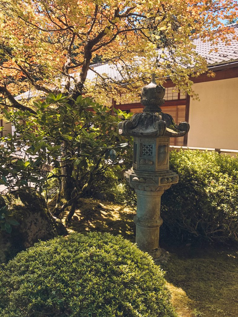 The Portland Japanese Garden in the city