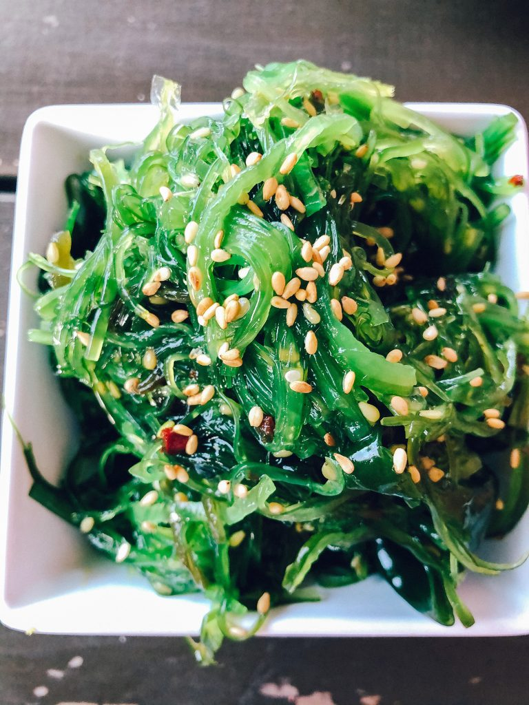 A seaweed salad from a Portland Japanese restaurant