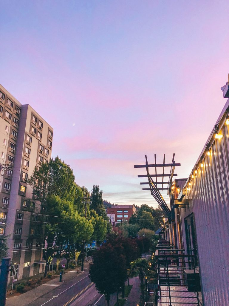 Sunset views in Portland, Oregon