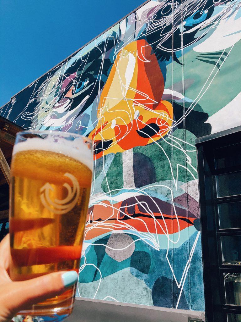 A beer from Breakside Brewery in Portland, Oregon