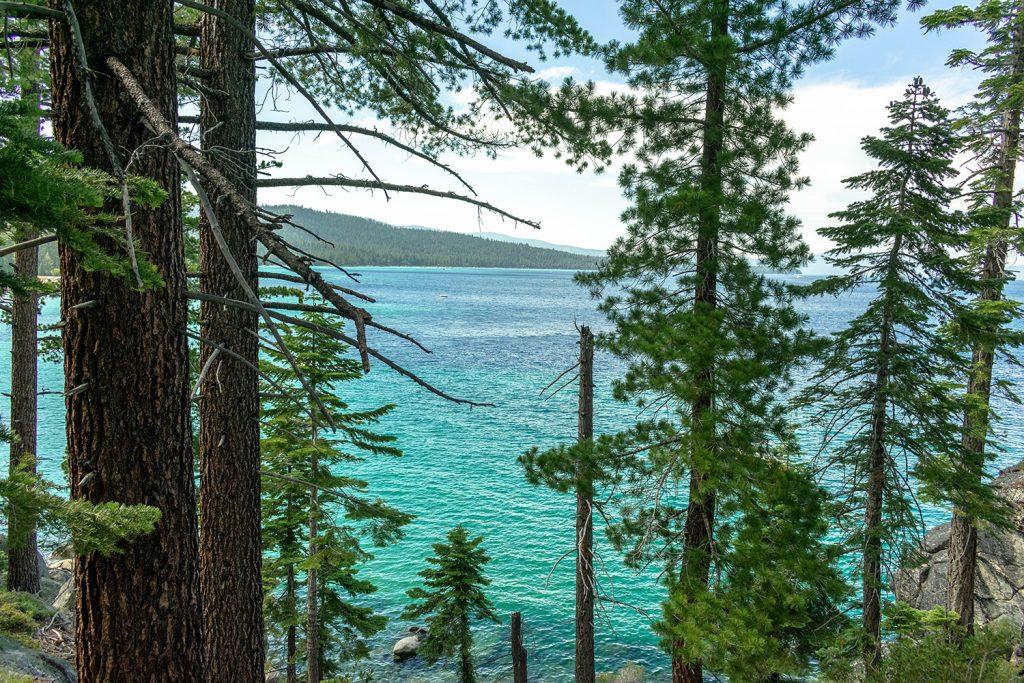 Beautiful blue Lake Tahoe during summer