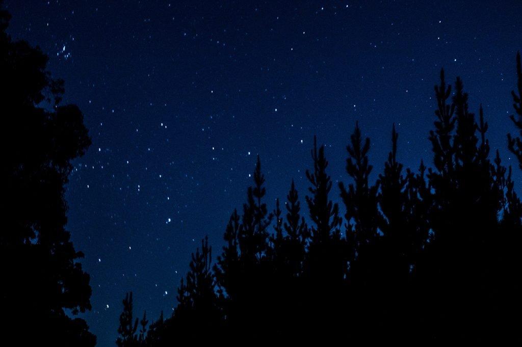 Night stars in Lake Tahoe