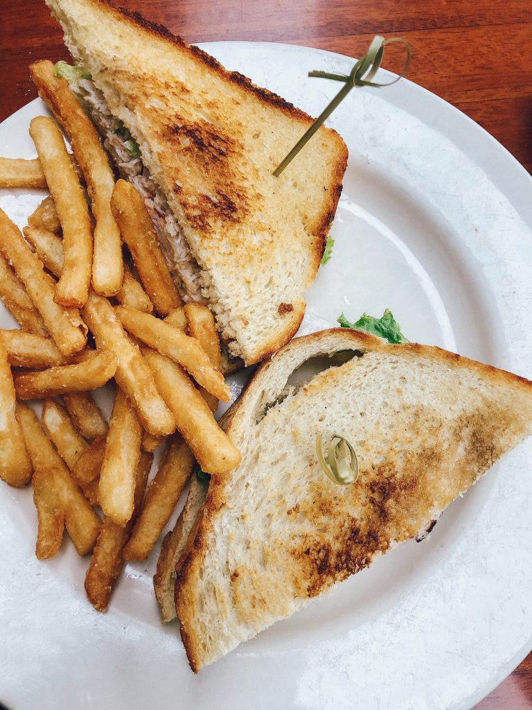 A Dungeness crab sandwich from Riva Grill in Lake Tahoe
