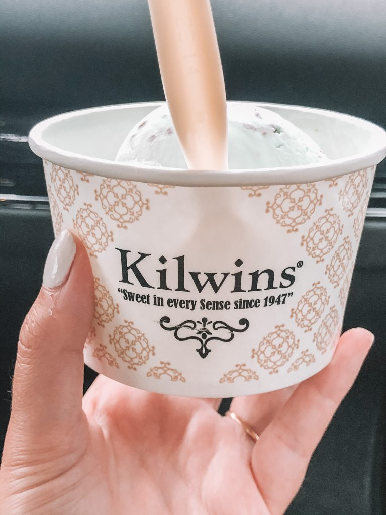 Key lime pie ice cream from Kilwins in Newport, RI during summer
