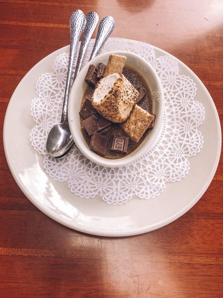 S'mores creme brulee dessert in Lake Tahoe