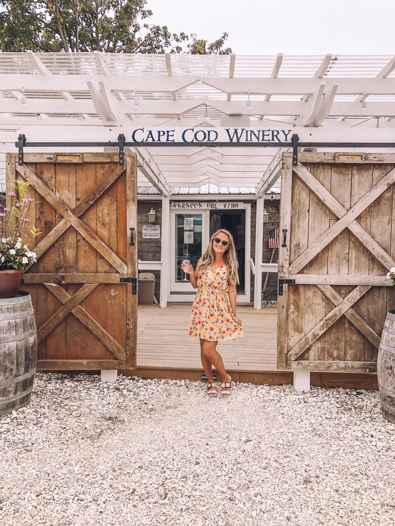 A woman at Cape Cod Winery during 2020