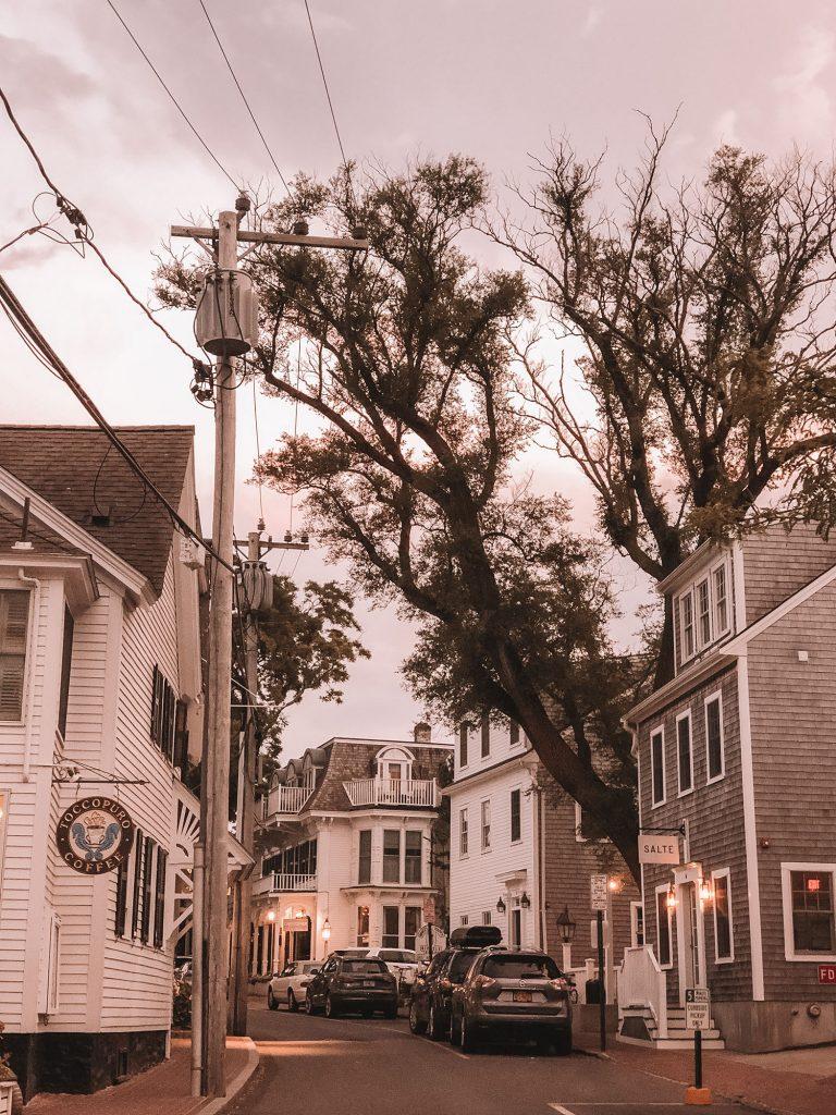Edgartown village during evening